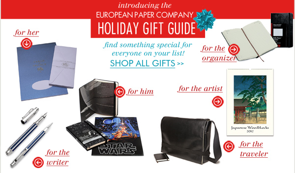 EuropeanPaper.com's Black Friday Holiday Gift Guide