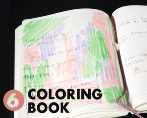The easiest DIY project ever: Turn your 2011 planner into a coloring book.
