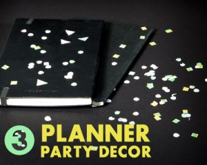 Planner party decor.