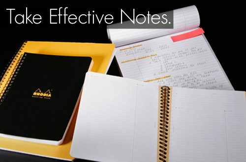 How to Take Effective & Efficient Notes by Maggie Marton for EuropeanPaper.com